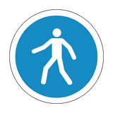 Pedestrian Floor Marker Sticker | Safety-Label.co.uk