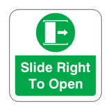 Slide Door Open To Right Floor Graphics Sticker | Safety-Label.co.uk
