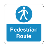 Pedestrian Route Floor Graphics Sticker | Safety-Label.co.uk