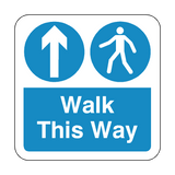Walk This Way Floor Graphics Sticker | Safety-Label.co.uk