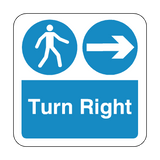 Turn Right Floor Graphics Sticker | Safety-Label.co.uk