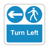 Turn Left Floor Graphics Sticker | Safety-Label.co.uk