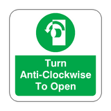 Turn Anti-Clockwise To Open Floor Graphics Sticker | Safety-Label.co.uk