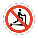 No Riding On Pump Trucks Floor Marker Sticker | Safety-Label.co.uk