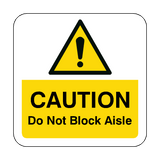 Do Not Block Aisle Floor Graphics Sticker | Safety-Label.co.uk