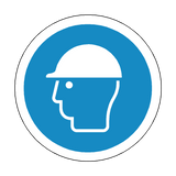 Hard Hat Floor Marker Sticker | Safety-Label.co.uk
