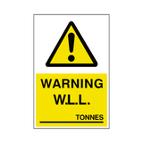 Working Load Limit Sticker Tonnes | Safety-Label.co.uk