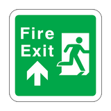 Fire Exit Arrow Up Floor Graphics Sticker | Safety-Label.co.uk