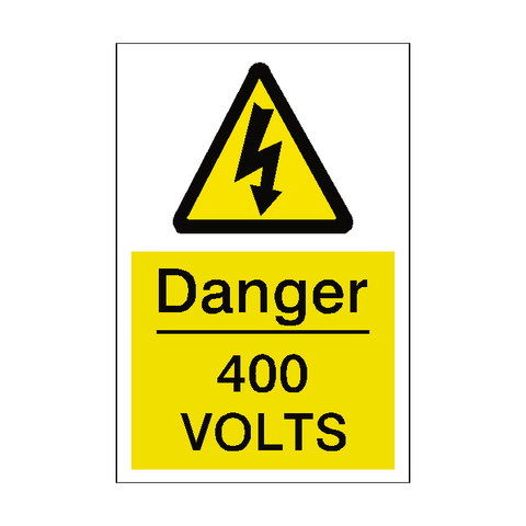 400 Volts Sticker - Safety-Label.co.uk