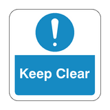 Keep Clear Floor Graphics Sticker | Safety-Label.co.uk