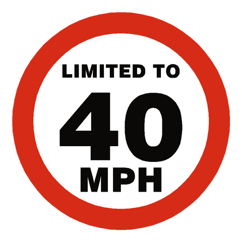 40 Mph Speed Limit Sticker - Safety-Label.co.uk