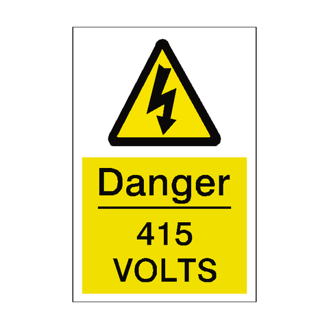 415 Volts Sticker - Safety-Label.co.uk