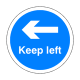 Keep Left Floor Sticker - Blue | Safety-Label.co.uk