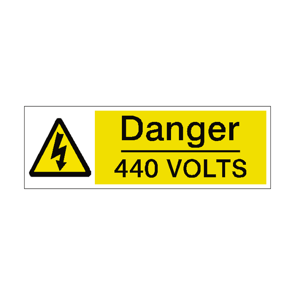 440 Volts Label - Safety-Label.co.uk
