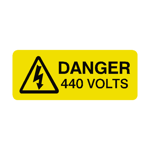 440 Volts Labels Mini - Safety-Label.co.uk