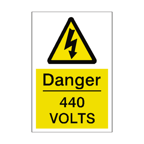 440 Volts Sticker - Safety-Label.co.uk