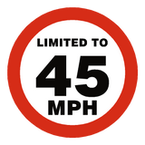 45 Mph Speed Limit Sticker - Safety-Label.co.uk