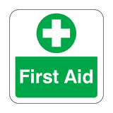 First Aid Floor Graphics Sticker | Safety-Label.co.uk