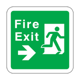 Fire Exit Arrow Right Floor Graphics Sticker | Safety-Label.co.uk
