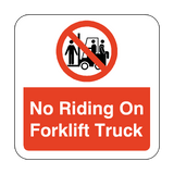 No Riding On Forklift Truck Floor Graphics Sticker | Safety-Label.co.uk