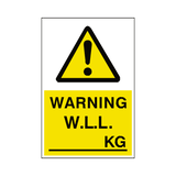 Working Load Limit Sticker Kg | Safety-Label.co.uk