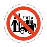 No Riding On Forklift Trucks Floor Marker Sticker | Safety-Label.co.uk