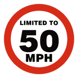 50 Mph Speed Limit Sticker | Safety-Label.co.uk