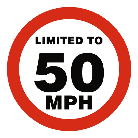 50 Mph Speed Limit Sticker - Safety-Label.co.uk