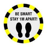 Stay 1 Metre Apart Floor Sticker - Black | Safety-Label.co.uk