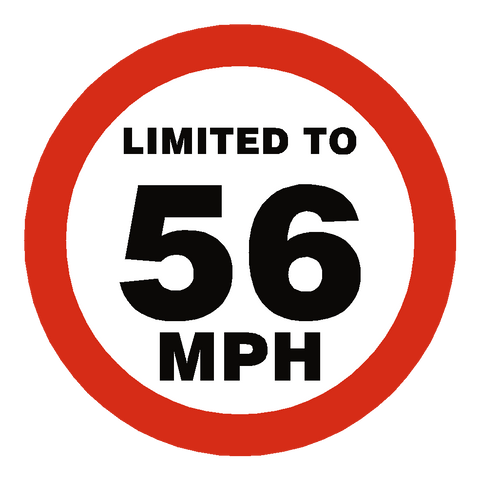 56 Mph Speed Limit Sticker - Safety-Label.co.uk