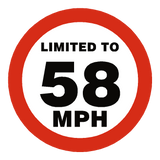 58 Mph Speed Limit Sticker | Safety-Label.co.uk