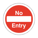 No Entry Circular Floor Marker Sticker | Safety-Label.co.uk