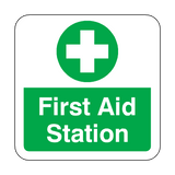 First Aid Station Floor Graphics Sticker | Safety-Label.co.uk