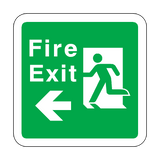 Fire Exit Arrow Left Floor Graphics Sticker | Safety-Label.co.uk