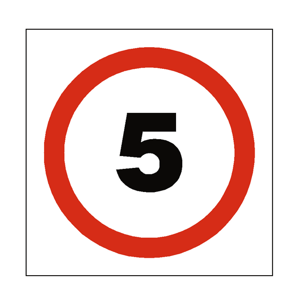 5 Mph Speed Sign | Safety-Label.co.uk