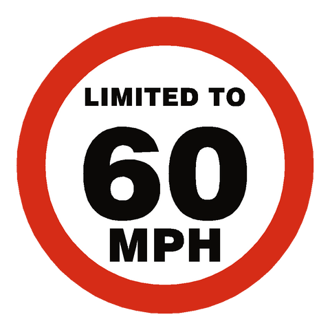 60 Mph Speed Limit Sticker - Safety-Label.co.uk