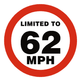 62 Mph Speed Limit Sticker | Safety-Label.co.uk