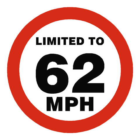 62 Mph Speed Limit Sticker - Safety-Label.co.uk