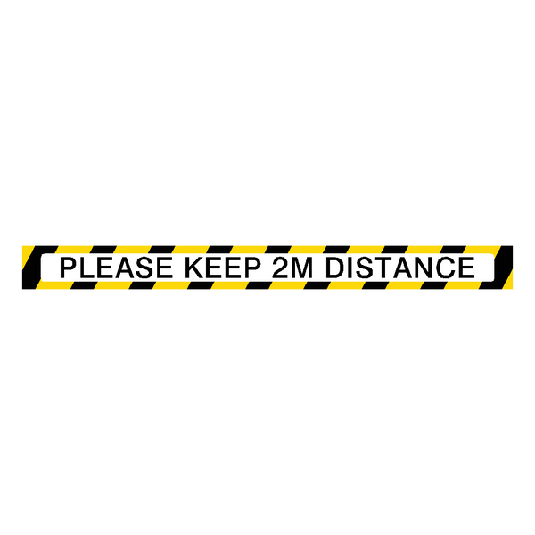 Please Keep 2M Distance Floor Marking Strip | Safety-Label.co.uk