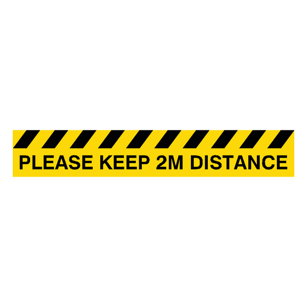 Please Keep 2M Distance Floor Graphics Strip | Safety-Label.co.uk