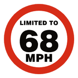 68 Mph Speed Limit Sticker | Safety-Label.co.uk