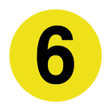 Number 6 Floor Marker | Safety-Label.co.uk