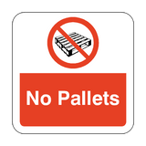 No Pallets Floor Graphics Sticker | Safety-Label.co.uk