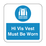 Hi Vis Vest Must Be Worn Floor Graphics Sticker | Safety-Label.co.uk
