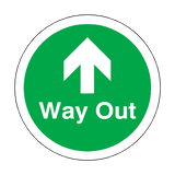 Way Out Up Arrow Floor Marker Sticker | Safety-Label.co.uk