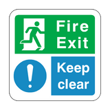 Fire Exit Keep Clear Floor Graphics Sticker | Safety-Label.co.uk