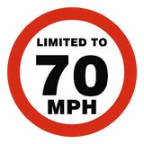 70 MPH Speed Limit Sticker | Safety-Label.co.uk