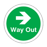 Way Out Right Arrow Floor Marker Sticker | Safety-Label.co.uk