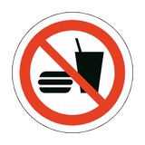 No Food Or Drink Floor Marker Sticker | Safety-Label.co.uk