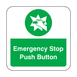 Emergency Stop Push Button Floor Graphics Sticker | Safety-Label.co.uk